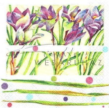 Kék virágok, Szalvéta