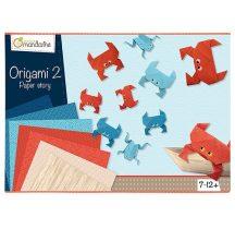 Origami papír készlet - Különleges origami papírok dobozos készletben - Fiúknak