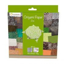 Origami papír - Design papíros hajtogató készlet, 20x20cm, 60 lap - Állatkert