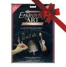 Kreatív hobby - Karcfólia, réz 6 db-os - 12x17 cm
