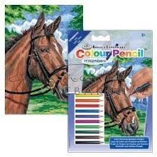 Számozott színező készlet, mini - Ló