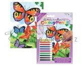 Számozott színező készlet, mini - Pillangók