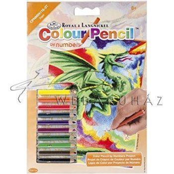 Számozott színező készlet, mini - Sárkány