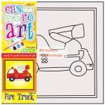 Kreatív hobby - Tűzoltó autó
