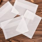 Transzparens boríték csomag, egyszínű hófehér, 11,4x16,2 cm - 50 db / csomag