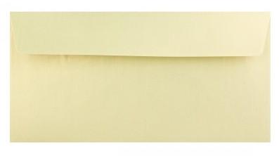 Prémium boríték - Metál fényű, pezsgő színű DL boríték, 22x11 cm, 120gr