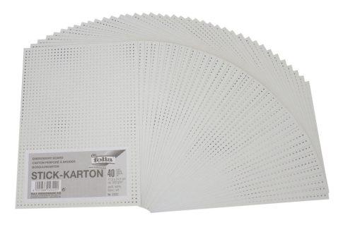 Lyukas karton - Fűzéshez, öltéshez - 18x25cm, 40 lap, 300gr