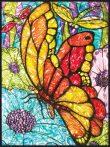 Kreatív hobby - Üvegmatrica kifestő készlet - Pillangók