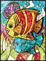 Kreatív hobby - Üvegmatrica kifestő - Trópusi hal