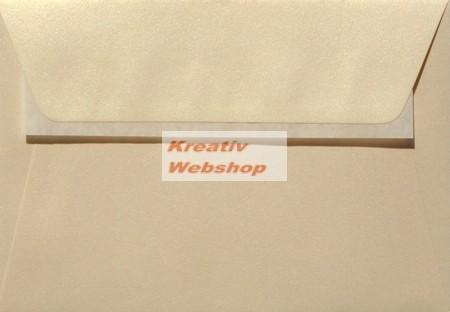 Esküvői boríték - Galaxis gyöngyházfényű krémszínű (vanília) boríték, 16x23 cm - 10 db / csomag