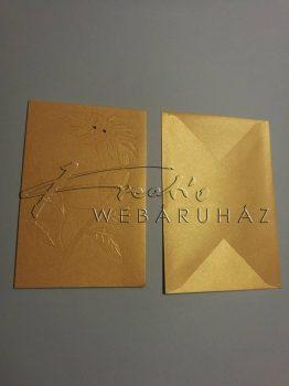Karácsonyi üdvözlőlapok és boríték - Arany, fényes felületű 12x17,1 cm - 10 db