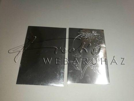 Karácsonyi üdvözlőlapok és boríték -Matt Ezüst 15x10 cm - 10 db
