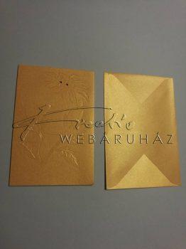 Karácsonyi üdvözlőlapok és boríték - Arany, fénytelen felületű 12x17,1 cm - 10 db