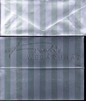 Meghívó készlet - Ezüst színű Boríték és Meghívó 7,6x20,3 cm, 50 darab