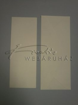 Meghívó készlet - 10 db Fehér színű meghívó borítékkal