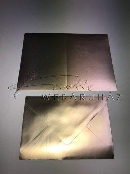 Meghívó készlet - 50 db Arany színű meghívó borítékkal