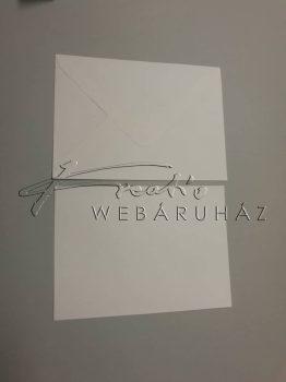 Meghívó készlet - 10 db Csontszínű meghívó borítékkal