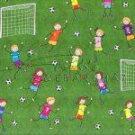Kartonpapír - Focizó gyermekek, Karton