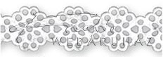 Papírcsipke - Virágos papírcsipke csík