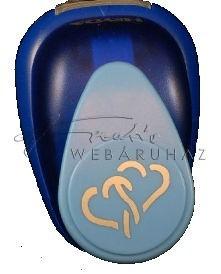 Lyukasztó - Szívek, egymásba fonódva minta lyukasztó, 2,5cm