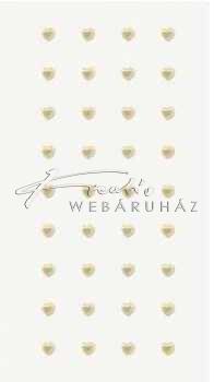 Pezsgő színű szív dekorgyöngy
