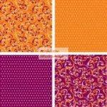 Origami papír - Narancs-Viola virág hajtogató készlet 15x15 cm