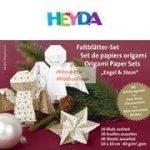 Origami papír - Karácsonyi hajtogató készlet - Angyal és csillag, 15x15 cm