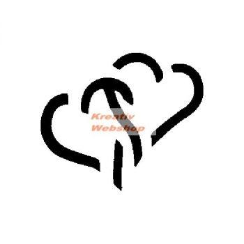 Lyukasztó - Szívek egymásba fonódóan - minta lyukasztó