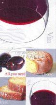 Sajt, kenyér, olíva és bor Szalvéta