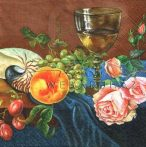 Gyümölcsös, virágos asztal 2, Szalvéta