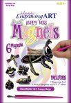 Kreatív hobby - Holografikus hűtőmágnes - Boldog rovarok