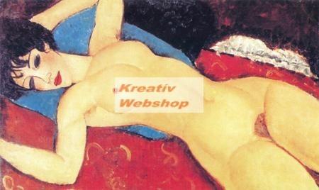 Kifestő vászonra, festék és ecset nélkül - Modigliani 50x28