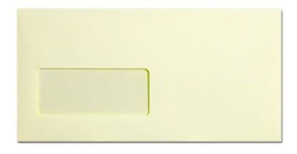 Krémszínű ablakos DL boríték, 22x11 cm