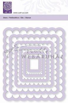 Acél vágósablonok -Négyzet alakúak, 6db-os készlet