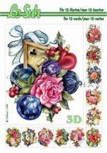 3D füzet - Karácsonyi díszek 3