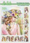 Hölgyek virágkoszorúval, 3D füzet