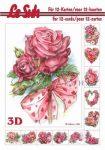 Rózsák és szívek, 3D füzet