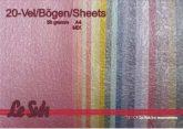 Gyöngyházfényű gyűrött selyempapír - 20 lapos vegyes színű csomag, 58gr., A4