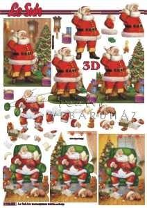 Télapó karácsonyfával