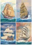 4 régi vitorláshajó, 3D készlet