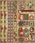 Mária Jézussal - csíkokkal és sarkokkal, keretezett képekkel