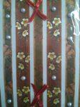 Karácsony öntapadós domború matricacsík dekorgyöngyökkel