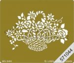 Embossing sablon - Virágkosár
