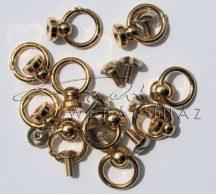 Fém dísz - Aranyozott fém bütykök karikával