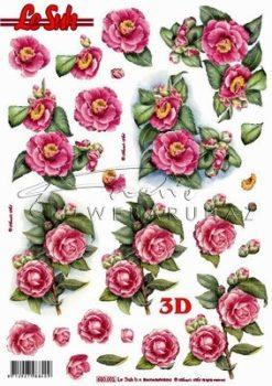 Vadrózsák, előre kivágott Fázisos 3D képek
