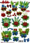 Karácsonyi gyertyák, előre kivágott Fázisos 3D képek