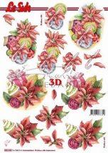Karácsonyi díszek, előre kivágott Fázisos 3D képek