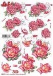 Rózsák és szívek, előre kivágott Fázisos 3D képek