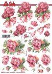 Rózsa szálak, előre kivágott Fázisos 3D képek