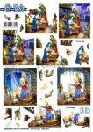 Szent család karácsonykor, előre kivágott Fázisos 3D képek